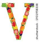 letter v english from fruit on...   Shutterstock .eps vector #1931958338