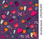 fashion shopping in paris... | Shutterstock .eps vector #193196396