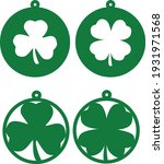 saint patrick's day. circle... | Shutterstock .eps vector #1931971568