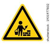 bricklayer symbol sign  vector...   Shutterstock .eps vector #1931977832