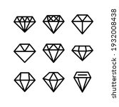 diamond icon or logo isolated... | Shutterstock .eps vector #1932008438
