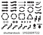 illustration set of arrows and... | Shutterstock .eps vector #1932009722