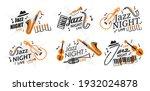 set of posters jazz night live... | Shutterstock .eps vector #1932024878