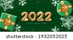 2022 new year card template... | Shutterstock .eps vector #1932052025