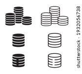 coins icon vector. coin stacks... | Shutterstock .eps vector #1932056738