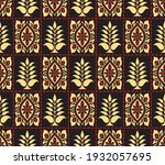 vector tribal floral pattern... | Shutterstock .eps vector #1932057695