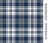 plaid pattern textured in blue  ...   Shutterstock .eps vector #1932063248