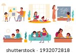 parents children learning.... | Shutterstock .eps vector #1932072818