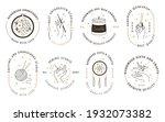 handmade workshop signs. craft... | Shutterstock .eps vector #1932073382
