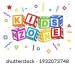 kids zone blocks. color...   Shutterstock .eps vector #1932073748