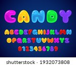 candy jelly font. kids candies... | Shutterstock .eps vector #1932073808