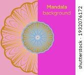 luxury mandala background with...   Shutterstock .eps vector #1932076172