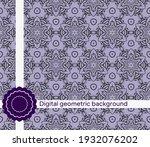 seamless decorative pattern...   Shutterstock .eps vector #1932076202