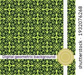 seamless decorative pattern...   Shutterstock .eps vector #1932076268