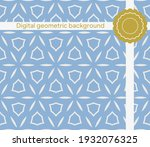 the geometric abstract pattern. ...   Shutterstock .eps vector #1932076325