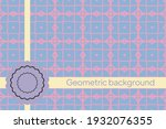 abstract geometric pattern with ...   Shutterstock .eps vector #1932076355