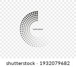 halftone dots in circle form ...   Shutterstock .eps vector #1932079682