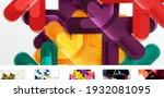 set of trendy minimalist...   Shutterstock .eps vector #1932081095