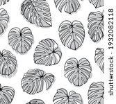 monstera deliciosa leaf... | Shutterstock .eps vector #1932082118