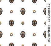 seamless pattern with mask in...   Shutterstock .eps vector #1932085682