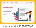 happy black businesswoman... | Shutterstock .eps vector #1932087668