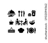 food and drink icons set vector ... | Shutterstock .eps vector #1932094562