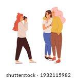 photographer taking photo of...   Shutterstock .eps vector #1932115982