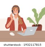 operator of call center working ...   Shutterstock .eps vector #1932117815