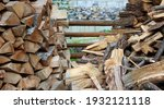 Stacking Of Chopped Firewood...