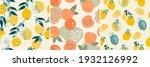 a set of artistic seamless... | Shutterstock .eps vector #1932126992