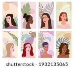 collection woman portraites... | Shutterstock .eps vector #1932135065