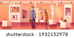 visitors wear medic masks in... | Shutterstock .eps vector #1932152978