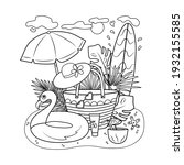 Summer Coloring Book With Beach ...