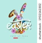 happy easter banner background. ...   Shutterstock .eps vector #1932162302