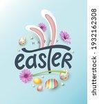 happy easter banner background. ...   Shutterstock .eps vector #1932162308