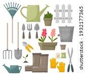 garden tool vector gardening... | Shutterstock .eps vector #1932177365