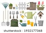 garden tool vector gardening... | Shutterstock .eps vector #1932177368