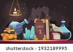 magic objects with stones... | Shutterstock .eps vector #1932189995