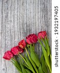 Bouquet Of Pink Tulips On A...