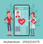 electronic health record  ehr... | Shutterstock .eps vector #1932214175