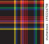 rainbow plaid  checkered ... | Shutterstock .eps vector #1932216758