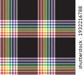 rainbow plaid  checkered ...   Shutterstock .eps vector #1932216788