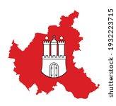 coat of arms of hamburg ... | Shutterstock .eps vector #1932223715