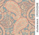 paisley floral oriental ethnic... | Shutterstock .eps vector #1932242048