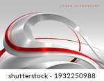 abstract red and white wave...   Shutterstock .eps vector #1932250988