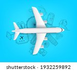 air travel concept with...   Shutterstock .eps vector #1932259892