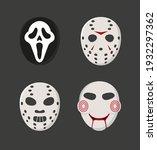 horror movie characters masks... | Shutterstock .eps vector #1932297362