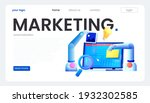 marketing automation. computer... | Shutterstock .eps vector #1932302585