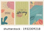 happy spring stories background ... | Shutterstock .eps vector #1932309218