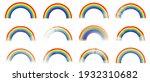 set of colour rainbows. symbol... | Shutterstock .eps vector #1932310682